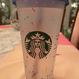 Starbucks confetti colour changing cup
